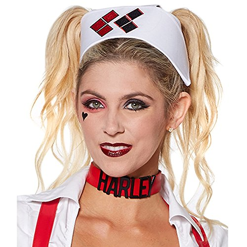 DC Comics Harley Quinn Arkham Adult Nurse Cap]()