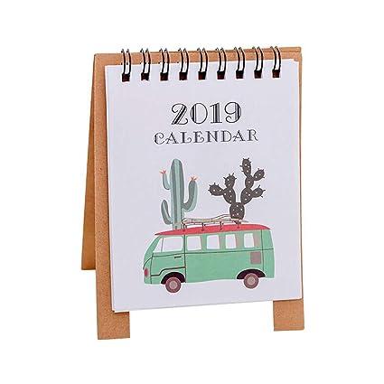 Amazon.com : DSDY 2019 Cartoon Calendar 12.59.5cm Creative ...