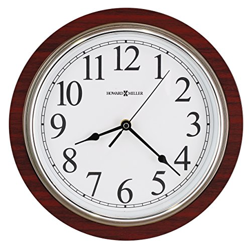 howard-miller-large-rosewood-wall-clock-11-3-4-faux-cherry-wood-625607
