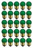 25 Qty. Halco 7.5W S11 Green Med 130V Halco S11GRN7.5C 7.5w 130v Incandescent Ceramic Green Lamp Bulb