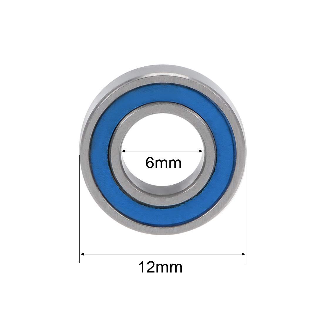 sourcing map Miniature Roulement billes ABEC-3 Roulement MR126-2RS 5Qty