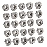 MagiDeal 20pcs 304 Stainless Steel Hex Head Serrated Spinlock Flange Nuts - M6, Silver