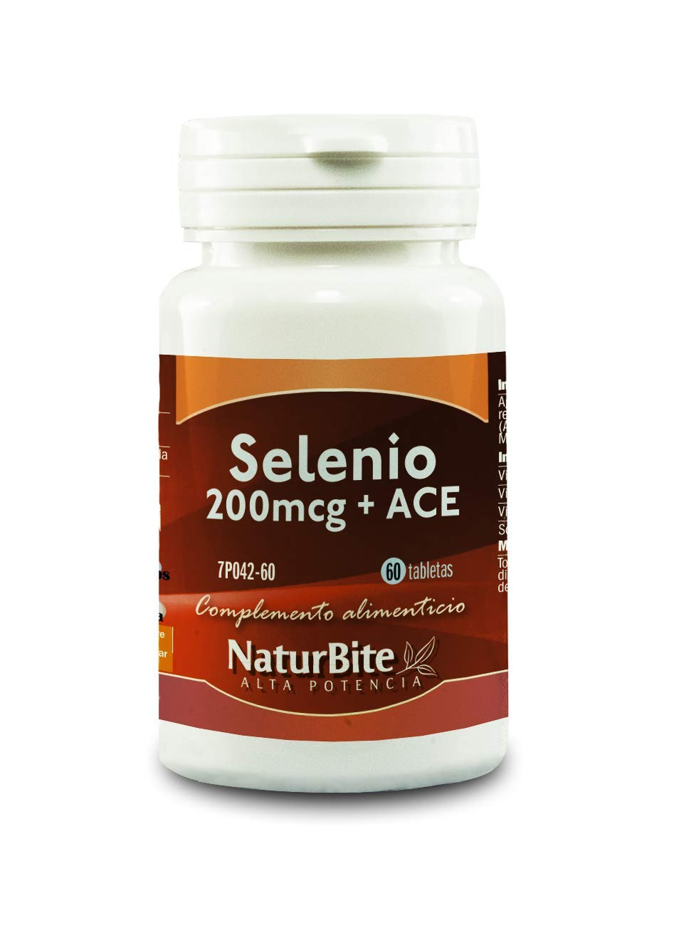 NaturBite Selenio, 200 mcg con ACE - 3 Paquete de 60 ...
