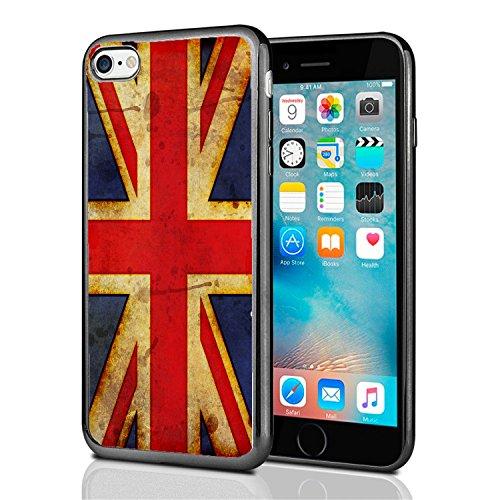 British Flag Union Jack Grunge for iPhone 7 (2016) &...
