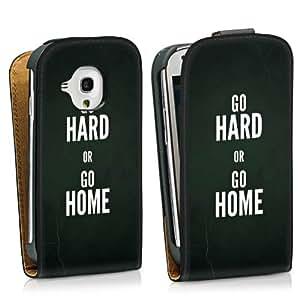 Diseño para Samsung Galaxy S3 Mini I8190 DesignTasche Downflip black - Go hard or go home