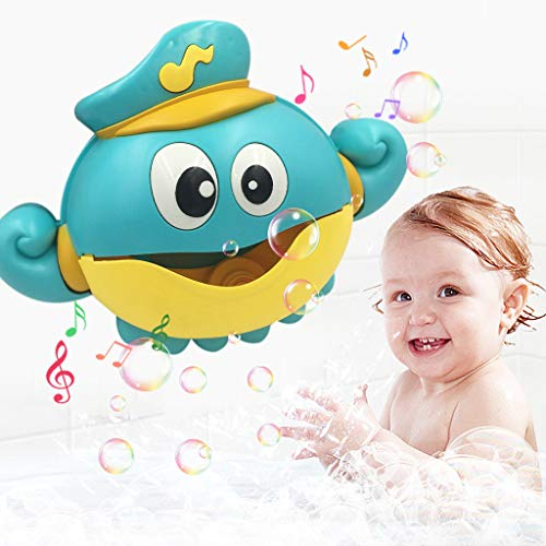 Eoeth Bath Dolls Bubble Machine Big Octopus Automatic Bubble Maker Blower Music Bath Toy for Baby Bath Toys New Green Octopus Bubble Machine(Shipped by US) Free Post