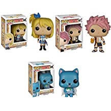 Fairy Tail Lucy, Natsu and Happy Pop! Vinyl Figures Set of 3 by Fairy Tail