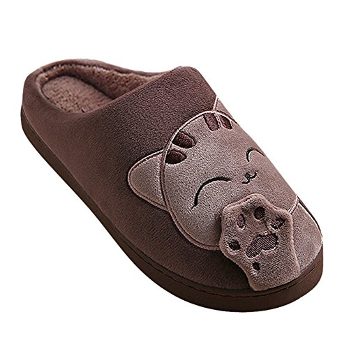 Et House Café Emoji Hommes Chaussons Winter Slipper Shoes Chat Chaud Peluche Femmes qEzwFZxA