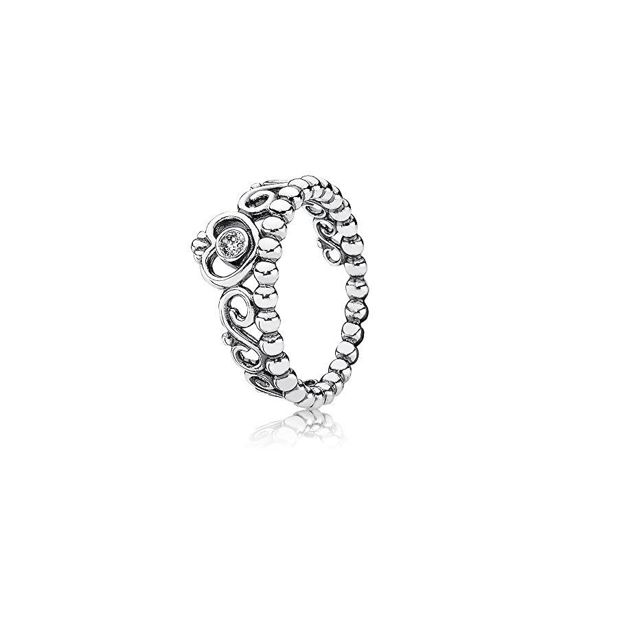 PANDORA My Princess Ring in 925 Sterling Silver w/ Clear Cubic Zirconia 7 (US), 190880CZ 54 (EUR)