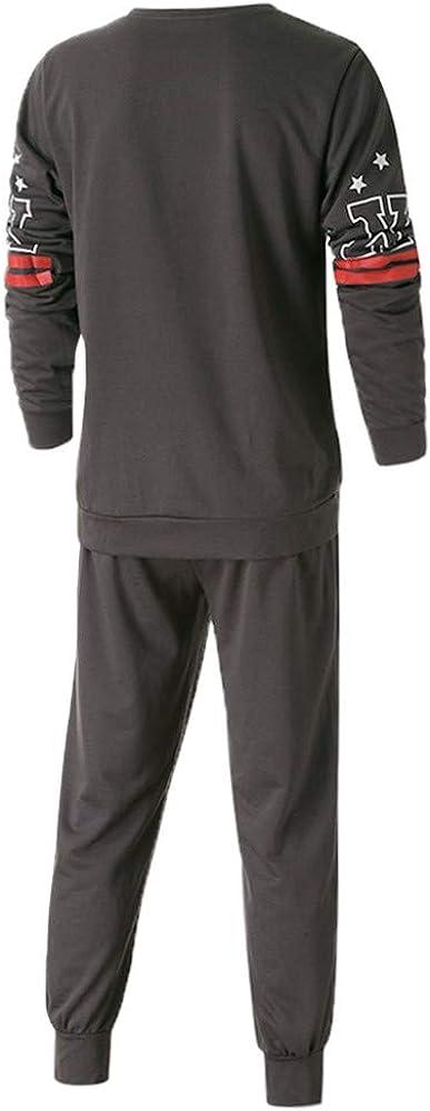 MRULIC Herren 2 St/ück Sportswear Tops und Hosen Trainingsanzug Sports Suit Fitness RH-028