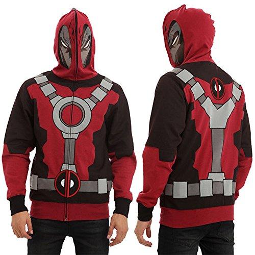Mens Deadpool Hoodie Marvel Comics