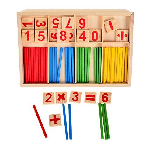 Yigooood Counting clés Box Set Montessori en bois Nombre Math Pédagogiques Jeu éducatif jouet pour enfant