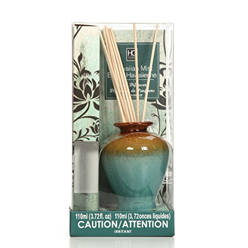 Hosley Aromatherapy Hawaiian Mist Diffuser Oil with Ceramic Bottle and Reed Sticks. All in One! 110ml. Bulk Buy. Ideal Gift for Weddings, Spa, Reiki, Meditation, Bathroom Settings O4 by Hosley