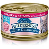 Blue Wilderness Wild Delights Adult Grain Free Meaty Morsels Chicken & Salmon In Tasty Gravy Wet Cat Food 3-Oz (Pack Of 24)