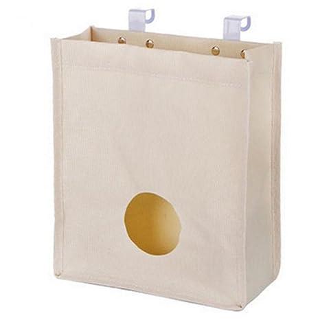 WA Back dispensador de soporte de bolsa de basura bolsa de la compra organizador