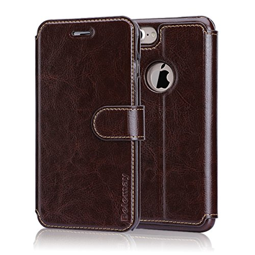 Belemay Cowhide Leather Magnetic Kickstand
