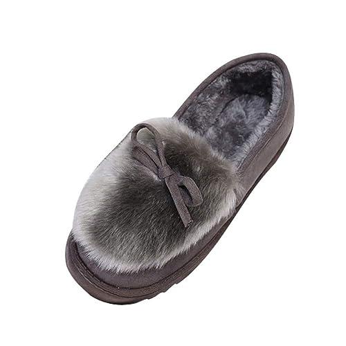 Zapatos Antideslizantes Mocasines Planos de Mujer QinMM Zapatillas de Terciopelo: Amazon.es: Zapatos y complementos