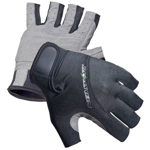 NeoSport 3/4 Finger Neoprene Gloves, 1.5mm - Unisex Design for Obstacle Racing, Biking, Sailing and Paddle Boarding - Offer Protection and a Reliable Grip - Soft, Comfortable Fit, Black, Medium