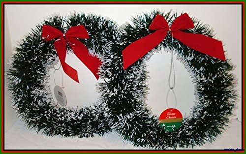 Lot Of 6 Christmas Decoration Pine Garland Wreath 10