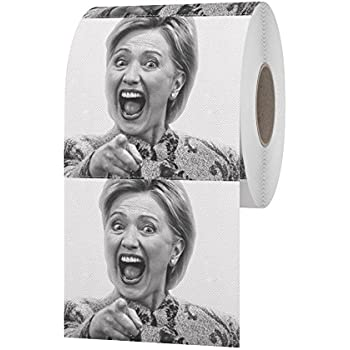 Amazon.com: Hillary Clinton Toilet Paper, Novelty Political Gag ...