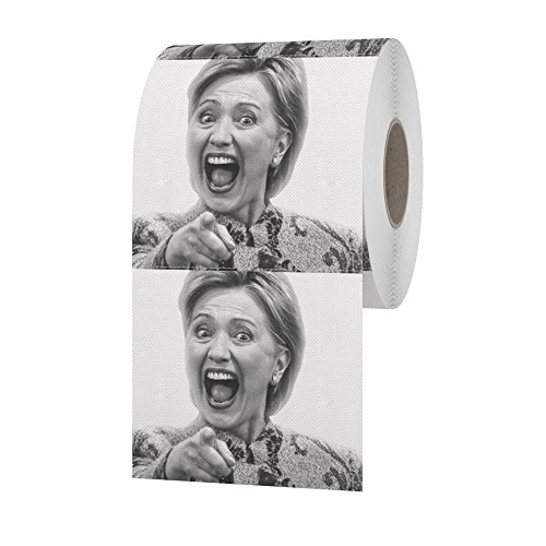 Black And White Two-face Costume (Funny Toilet Brand Hillary Clinton Toilet Paper)