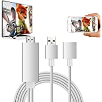 Lightning to HDMI Cable Adapter, VPRAWLS Lightning Digital av Adapter The Latest 3rd Generation Plug and Play 1080P Mirroring Cable for iPhone iPad Samsung Huawei P8/P9 Smartphones - Sliver