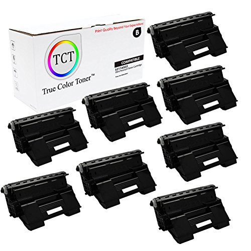 TCT Premium Compatible 52114502 Black Laser Toner Cartridge 8 Pack Set for the OKI B6300 series - 17,000 yield- works with the Okidata B6300 series printers