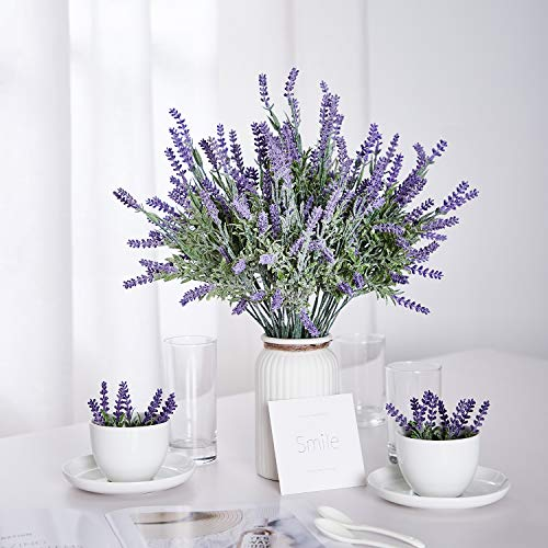 TEMCHY-Artificial-Lavender-Plant-with-Silk-Flowers-Bouquet-for-Wedding-Decor-and-Table-Centerpieces-Indoor-Outdoor-Decoration-8-Piece-Bundle