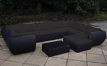 Amazonde Baidani Extreme Rattan Garten Lounge Garnitur Schwarz
