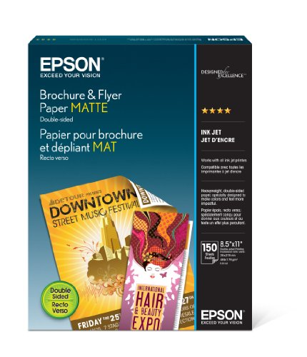 Epson Brochure and Flyer Paper Matte Double-Sided (S042384) - Matte Coated Paper