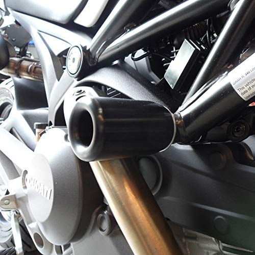 Shogun 2008-2014 Ducati Monster 696 2011-2014 Ducati Monster 796 2009-2013 Ducati Monster 1100 1100S 2013 Ducati Monster Diesel Black No Cut Frame Sliders - 750-8409 - MADE IN THE USA