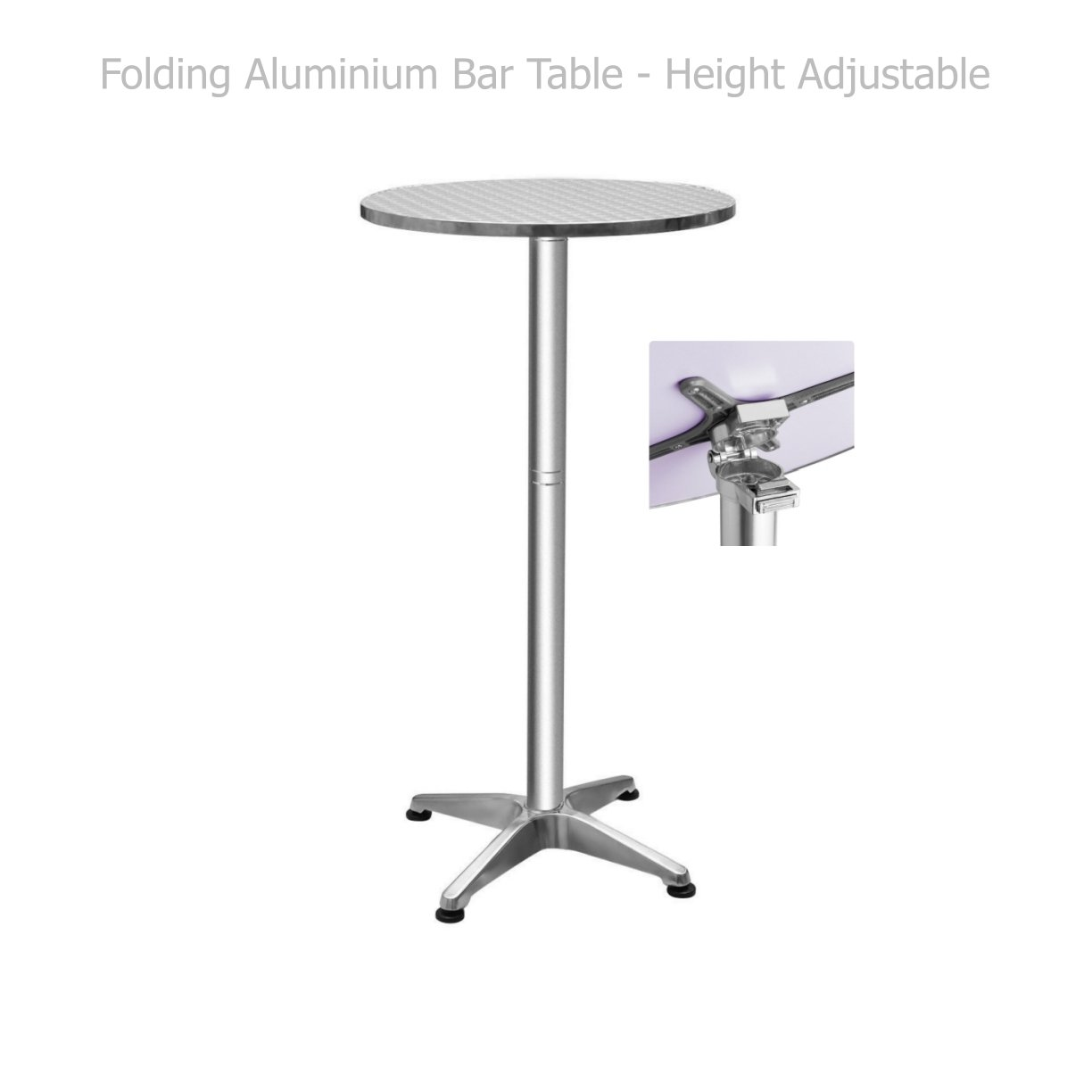Folding Aluminium Bar Table Height Adjustable Commercial Residential Waterproof UV Resistant Home office Kitchen Indoor Outdoor Furniture #1382