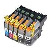 Virtual Outlet ® 5 Pack Compatible Inkjet Cartridges for Brother LC-203XL LC-203 LC-201, LC-203BK LC-203C LC-203M LC-203Y Black Cyan Magenta Yellow Compatible with Brother MFC-J4320DW MFC-J4420DW MFC-J4620DW MFC-J5520DW MFC-J5620DW MFC-J5720DW