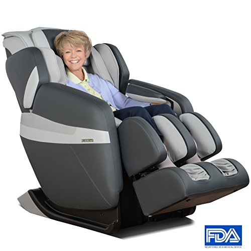 RELAXONCHAIR [MK-CLASSIC] Full Body Zero Gravity Shiatsu Massage Chair with Built-In Heat and Air Massage System (GRAY)