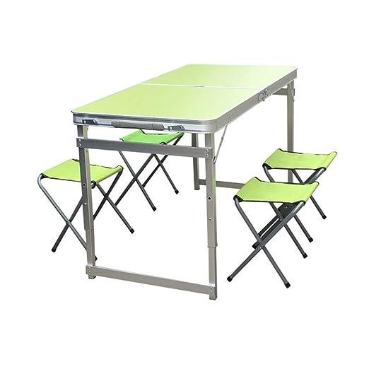Lh$yu Mesa Plegable Enrollable para Uso en Interiores al Aire ...