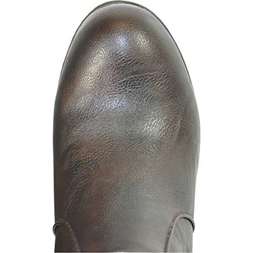 Kozi Donna Zeppa Boot Sd4501 Fodera In Pelliccia Stivaletto Invernale Caffè 38m