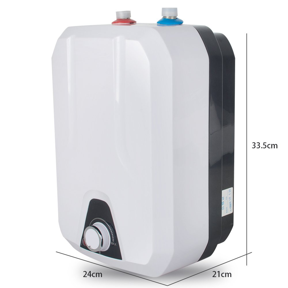 zinnor 8L Instant Electric Water Heater Kitchen Household Electrical Hot Water Tank for Bathing Washingroom Shower 1500W/1.5KW 50HZ, IPX4 Water-Proof Level 110V 55℃- 75℃ USA Shipping by Zinnor (Image #4)