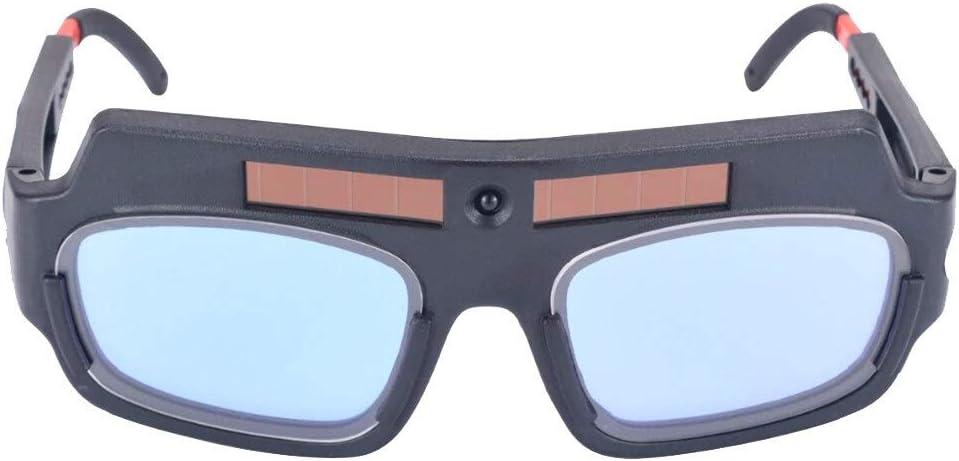 Máscara de soldadura de oscurecimiento automático de soldadura Solar Casco protector Ojos Gafas de soldador máquina de corte Herramientas for soldar máscara de filtro de la lente (Color : A)