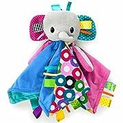 Bright Starts Cuddle n Tags Blankie - Elephant