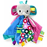 Bright Starts Cuddle n Tags Blankie - Elephant
