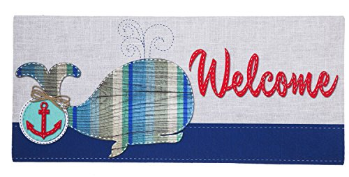 Evergreen-Flag-Whale-Welcome-Decorative-Mat-Insert-10-x-22-inches