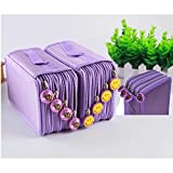 Pencil Case Holder, TopRay 4-Layer Large Capacity Students Pencil Wrap Bag Pen Pounch School Office Art Artist Crafts Stationary Makeup Cosmetic Storage Boxes Organizers (Purple)