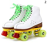 Gracefulvara Adult Roller Skating Shoes Double Row Roller Skating Shoes