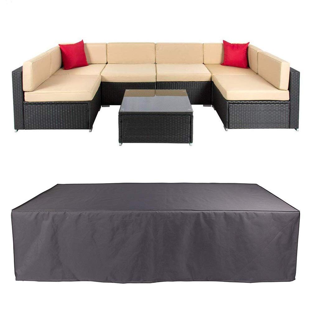 Veronica Patio Sofa Cover Outdoor Sectional Furniture Cover Waterproof Garden Couch Cover Dust Proof Protective Loveseat Covers 124x63x29 Inch