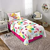 Nickelodeon Sunny Day Kids Bedding Soft Microfiber Sheet Set, Twin Size 3 Piece Pack, White/Pink