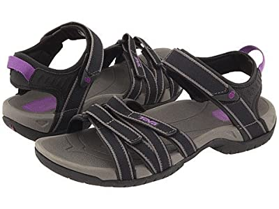 Teva Women's Tirra Athletic Sandal (6.5 B(M) US, Black-Grey)