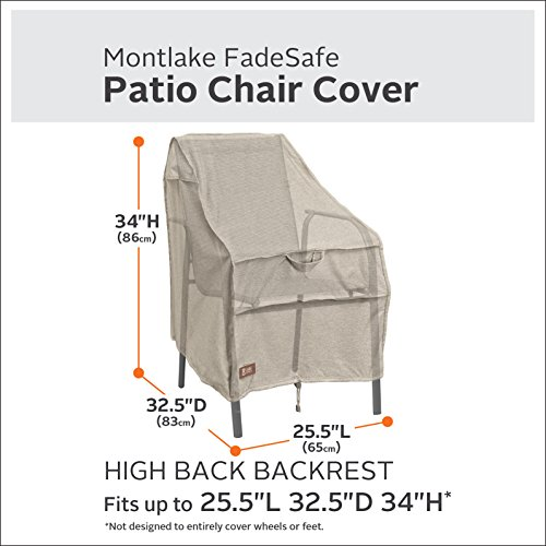 Classic Accessories Montlake High Back Patio Chair Cover