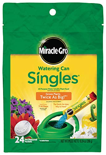 : Miracle-Gro Watering Can Singles All Purpose Water Soluble Plant Food, Includes 24 Pre-Measured Packets