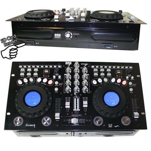 EMB - EB9005MX - NEW Professional DUAL CD/USB/SD/MP3 Mixer CDJ Scratch ()