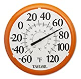 Taylor Precision Products Big and Bold Dial Thermometer (13.25-Inch, Orange)